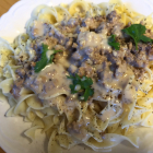 Ground Beef {or Turkey} Stroganoff