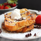 Chocolate Chip Brioche French Toast