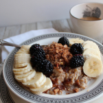 Slow Cooker Steel Cut Oats Fruit Crumble