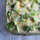 White and Green Chicken Enchilada Casserole