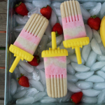 Strawberry and Banana Yogurt Pops