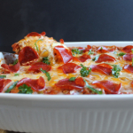 Easy Ravioli Lasagna with Pepperoni